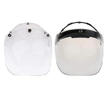 Sharplace 2 unds Motocicleta Viseras Windshield Cascos Vintage Moda Helmets 3 Snaps Jet Helmet: Amazon.es: Coche y moto
