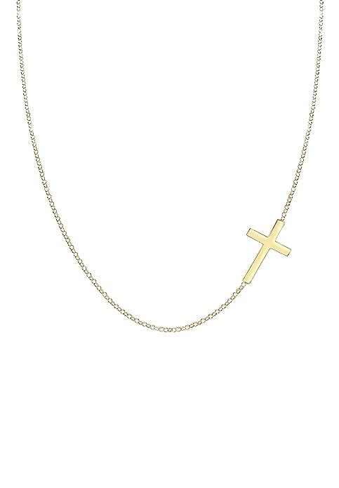 Elli Damen Halskette Kreuz Religion Glaube Trend in 925 Silber