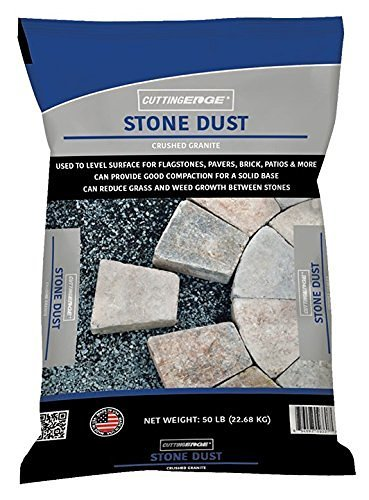Cutting Edge Brand Products Stone Dust – Crushed Granite Used to Level Surface, Can Provide Good Compaction, Can Form a Strong, Non-Porous Surface and Reduce Weed Growth Between Stones - 50 LB. Bags