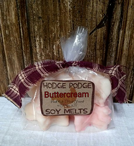 Buttercream Accent (Buttercream Soy Wax Grubby Star Melts Tarts Hand Poured Bakery Candle Set of 4 Handmade)