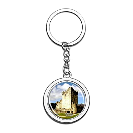 Hqiyaols Keychain Irlanda Ross Castle Killarney Cristal ...
