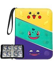 KIXDA 480 Cards Binder Trading Card Holder Case 4-Pockets Album, for Pokemon Cards, Baseball Cards, Basketball Cards, Skylanders, Top Trumps, C.A.H., Monopoly Deal Cards (Not Included Cards)