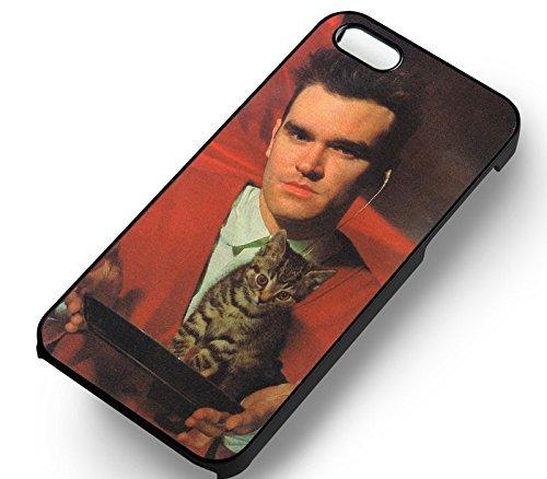 Unique Steven Unique Morrissey et His Cat pour Coque Iphone 5 or Coque Iphone 5S or Coque Iphone 5SE Case (Noir Boîtier en plastique dur) M8R8VO