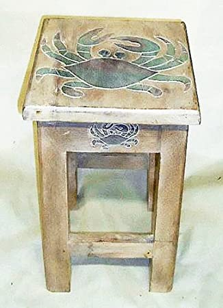 Elegant Tables   Blue Crab Side Table   Nautical Accent Table   Nautical Decor