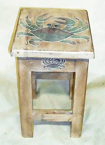 Tables   Blue Crab Side Table   Nautical Accent Table   Nautical Decor