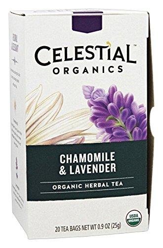 Celestial Seasonings Tea herbal Organic Chamomile Lavender Bag, 20 ct