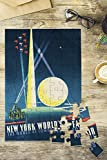 New York World's Fair 1939 - The World of Tomorrow Vintage Poster (artist: Binder) USA c. 1939 (8x12 Premium Acrylic Puzzle, 63 Pieces)