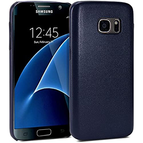 Galaxy S7 Leather Case, Galaxy S7 Case, GMYLE Snap Cover PU Coated for Galaxy S7 - Navy PU Leather Slim Snap On Sales