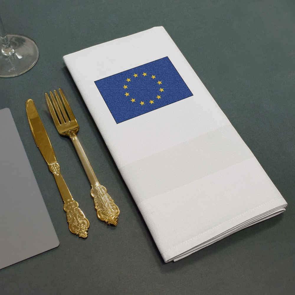 NK00015071 Azeeda European Union Flag Cotton Napkin Dinner Cloth