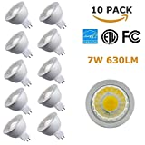 (10 Pack) NickLED MR16 7Watt Dimmable High Lumen COB LED Bulb, 630lm, 3000K, Replace 50W Halogen Bulbs, Cold Forging Aluminum for Best Heat Dissipation, Special for Project