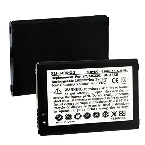 Click to buy LG K8V Cell Phone Battery (Li-Ion 3.8V 2200mAh) - Replacement For LG BL-46ZH Cellular Battery - From only $20.16