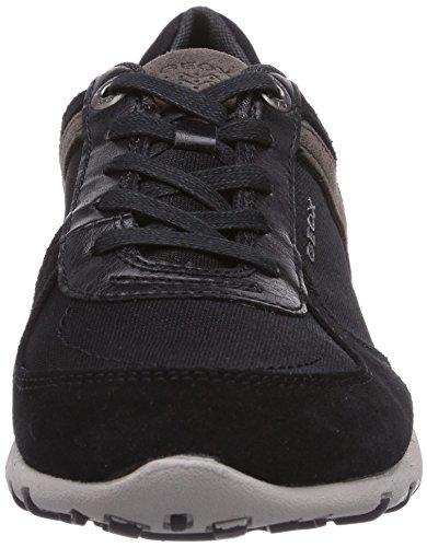 Geox D FRECCIA A - zapatilla deportiva de cuero mujer negro - negro