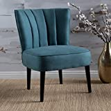 Leafdale Plush Fabric Accent Chair (Dark Teal)