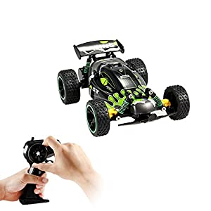 GP - NextX RC Car Electric Remote Control Off Road Monster Truck - 1:18 Scale 2.4Ghz Radio 2WD Fast RC Cars ( Green )