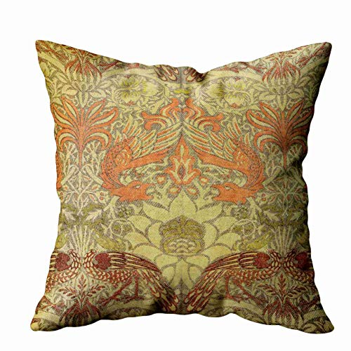 - Musesh Floral Pillow Cover,Holiday Throw Pillow Case, 18x18 William Morris Peacock and Dragon Pattern for Sofa Home Decorative Pillowcase Pillow Covers