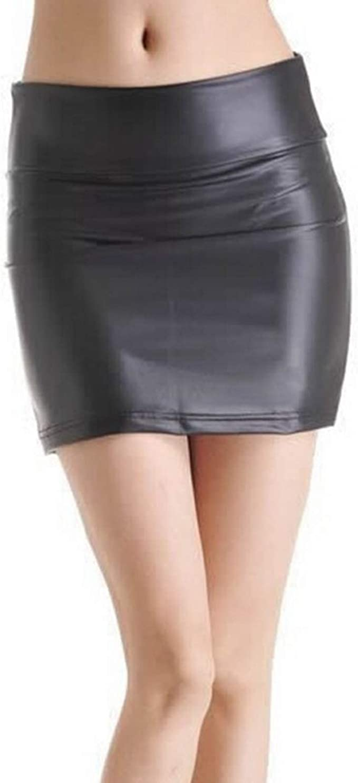 Mujer Faldas Sexy Bodycon Mini Falda Fiesta Ropa Alta Wasit Faux ...