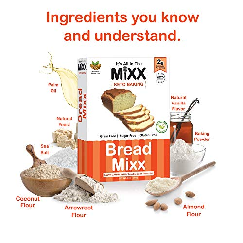 Bread Mixx, Low Carb Keto Bread Mix with Almond Flour, Keto Friendly Mix for Low-Carb Bread, 255 g - It's All In The Mixx 3