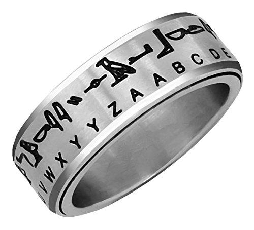 Hieroglyph Translator Ring Silver Size 06 (Egyptian Ring)