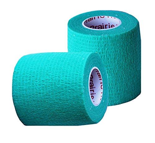 Vet Wrap Tape, Self Adherent Rap Tape, Self Adhering Stick Bandage, Self Grip Roll - (2-Inches Wide) x 15' Feet - (Teal)