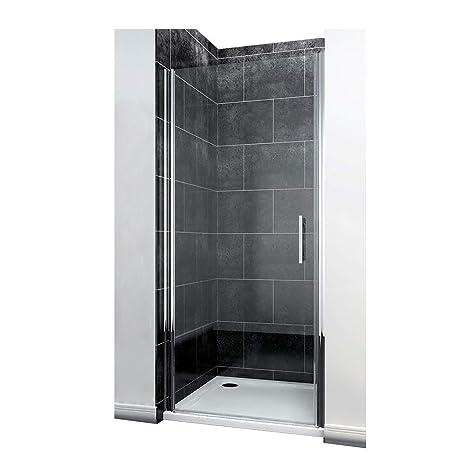 Duschkabine 90 x 185 cm Duschtür Pendeltür Duschabtrennung Echtglas