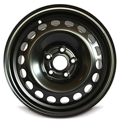 Road Ready Car Wheel For 2011-2014 Volkswagen Jetta 15 Inch 5 Lug Black Steel Rim Fits R15 Tire - Exact OEM Replacement - Full-Size -