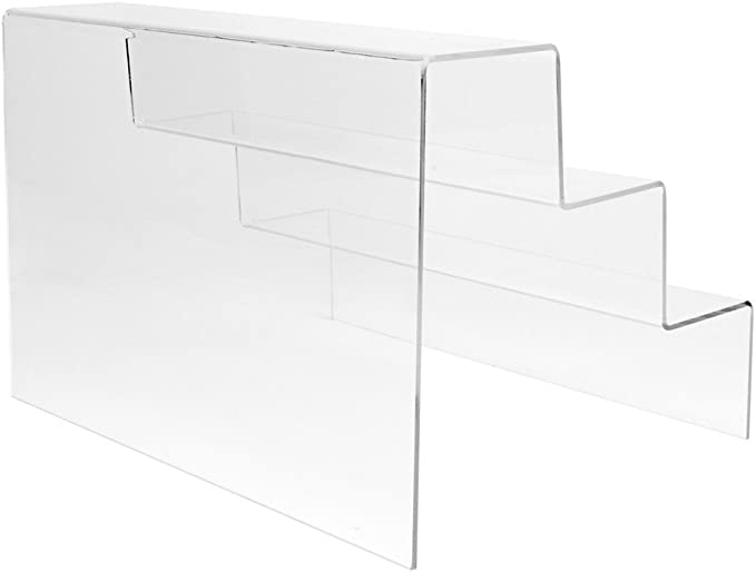 DISPLAY4TOP 3 passo acrilico display stand Counter retail riser Polish plinto 200*200*200*2