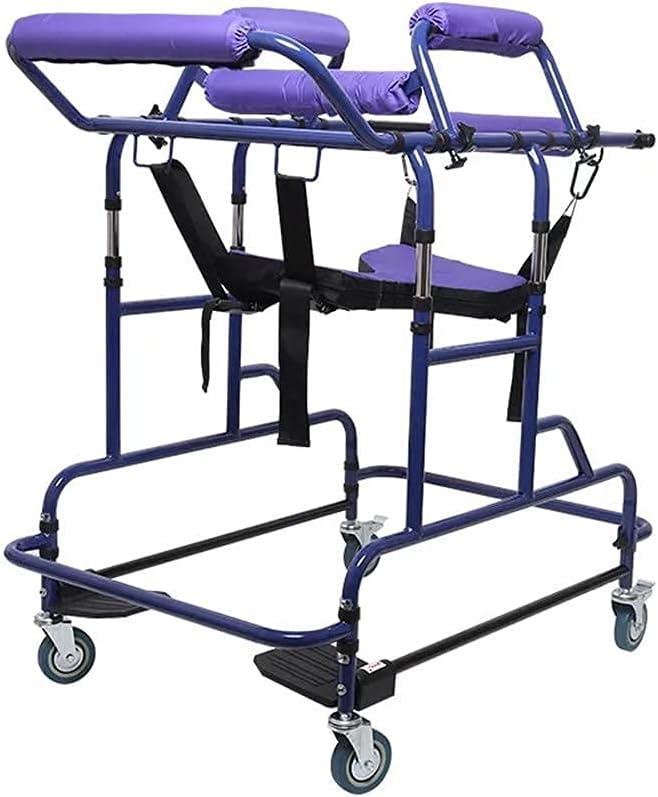FHISD Acogedor Andador de Ancianos polea, Andador, Andador para discapacitados, Andador de polea de Acero Inoxidable, Soporte de Brazo para Ancianos, Ayuda a Caminar Independiente, Ajustable