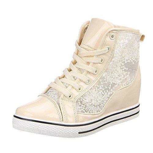 Ital-Design - Zapatillas altas Mujer Beige - beige