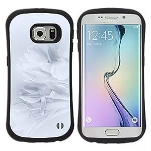 """Pulsar iFace Series Tpu silicona Carcasa Funda Case para Samsung Galaxy S6 EDGE , Pétalos Snowdrop Pétalo Sombra Sutil"""""""