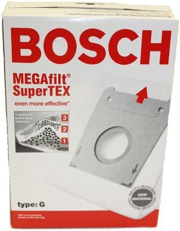 Bosch Bolsas de aspiradora MegaFilt Super Tex Tipo G: Amazon.es: Hogar