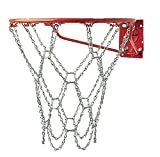 Champion Sports Heavy Duty Metal Chain Link Basketball Net, Fits Standard Indoor or Outdoor Basketball Hoop (Rustproof, Zinc-plated Galvanized Steel, Silver)