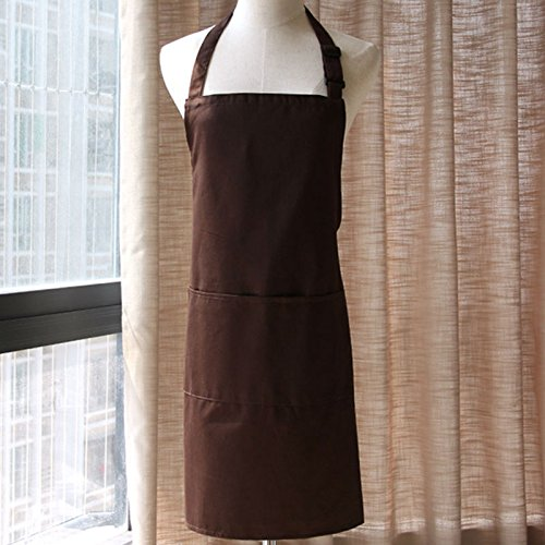 Lqchl Full Length Solid Cotton Apron Cafe Bistro Bar Salon Spa Uniform Kitchen Chef Barista Waiter/Waitress Baker Florist Workwear
