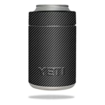 MightySkins Protective Vinyl Skin Decal for YETI Rambler Colster wrap cover sticker skins Carbon Fiber