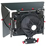 PROAIM Matte Box w adjustable height 15mm Rod Clamp built in 4x4 FIlter Frame Holders