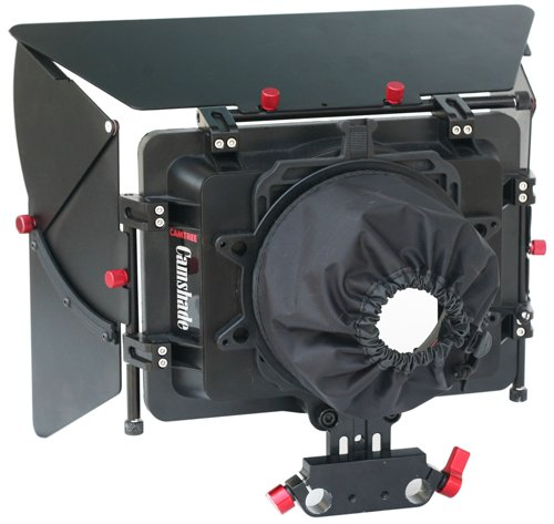 CAMTREE Matte Box w adjustable height 15mm Rod Clamp built in 4x4 FIlter Frame Holders