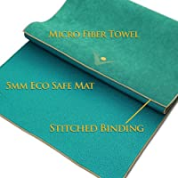 Aurorae Synergy 2 in 1 Yoga Mat; with Integrated Non Slip Microfiber Towel. Best for Hot, Ashtanga, Bikram and Active Yoga Where You Sweat and Slip
