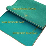 "Aurorae Yoga Mat / Towel, ""Synergy"" the Original Super Deluxe Slip-Free 5mm Yoga Mat with Our Lush Ultra Absorbent Slip Free Microfiber Towel"