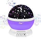 [Update]Esonstyle Musical Night Light,360 Rotating Star Lamp Baby Musical Lamp with Rechargeable Battery,12 Songs to Relax for Sleep Kids Babies Birthday Children Day Christmas Gift