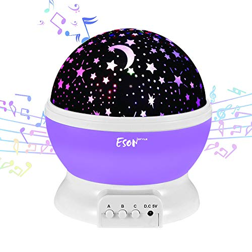[Update]Esonstyle Musical Night Light,360 Rotating Star Lamp Baby Musical Lamp with Rechargeable Battery,12 Songs to Relax for Sleep Kids Babies Birthday Children Day Christmas Gift by esonstyle (Image #7)