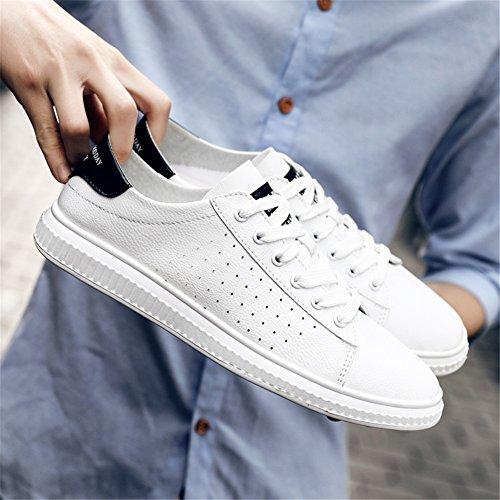 Verde Negro Blanco Cubierta Zapatos de Informal Viajes con Aire de Zapatos o de Do Blanco Mujer al Cordones Primavera Zapatos PU Libre Comfort Negro Oto para Sneakers YAxqwgBw4W