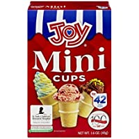 Joy Mini Cups Miniature Ice Cream Cones For Kids, Desserts, Cupcake Cones, Cake Pops 42 Count (1 Box/42 cones)
