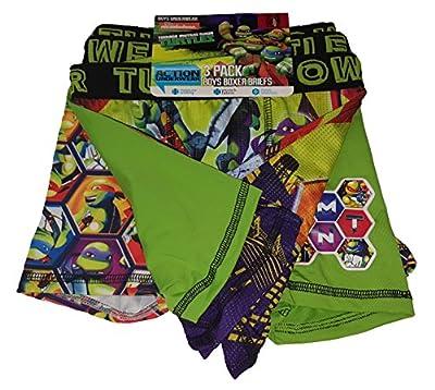 Fashion Teenage Mutant Ninja Turtles Action Underwear 3 Pack Boxer Briefs