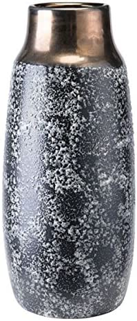 Zuo Stoneware Vase Medium , Metal Black Ash