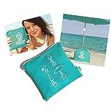 Strandschirmständer - Sonnenschirm Ständer - SOLBOY - Der Schirmständer für den Strandschirm, Sonnenschirmhalter (SONDEREDITION TÜRKIS)