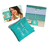 solboy® beach umbrella stand SPECIAL EDITION (turquoise) - parasol and umbrella holder