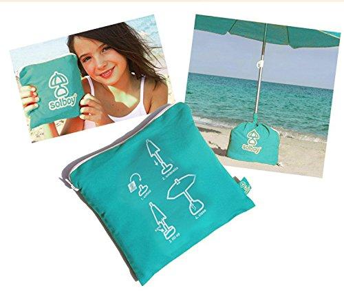 Sonnenschirm-Stnder-SOLBOY-Der-Schirmstnder-fr-den-Strandschirm-Sonnenschirmhalter-SONDEREDITION-TRKIS