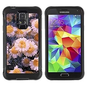 Suave TPU GEL Carcasa Funda Silicona Blando Estuche Caso de protección (para) Samsung Galaxy S5 V / CECELL Phone case / / Flowers Daisies Winter Ice Art /