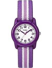 Timex Kid's TW7C061009J Girl's Purple Stripe Analog Watch