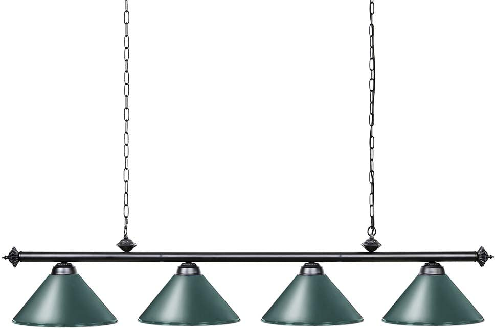 Wellmet 70 Inch Island Light, 4-Light Vintage Industrial Retro Kitchen Island Counter Pendant with Metal Shades, Perfect for Men's Cave, Kitchen, Dinning Room, Bar
