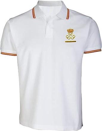 Polo Liso Patrón de Embarcación de Recreo (per) Bandera de España (XL, Blanco): Amazon.es: Ropa y accesorios
